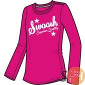 Nike Hosszú ujjú Swoosh - lány 393680-699
