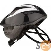 Nijdam kerékpáros sisak, fekete-fehér sc-20141